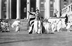 Photos of what was going on in Washington, D.C, 100 years ago: a woman suffrage parade. Via the Atlantic.