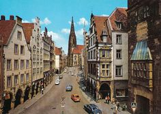 Prinzipalmarkt and St. Lambert's Church, Münster, Germany by Striderv, via Flickr    This church is the only thing I remember from the day I was in Germany.