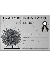 Family reunion award templates our 100th year as a for Free family reunion certificates templates