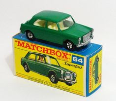 4a MG1100 with rare GREEN body, very rare transitional model with thin wheels, tow hook, in correct issue F box