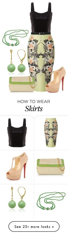 """""""SKIRT"""" by kim-coffey-harlow on Polyvore featuring Miss Selfridge, M&Co, Christian Louboutin, Buti and Belk & Co."""