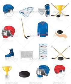 Hockey Icons With Images Clip Art Hockey