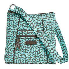 Vera Bradley Hipster Crossbody in Shower Vines ($42) ❤ liked on Polyvore featuring bags, handbags, shoulder bags, sale, shower vines, cross body, hipster purse, blue shoulder bag, hipster handbags and vera bradley handbags