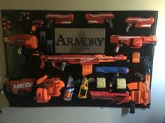 Nerf gun armory! Officially ready for the zombie apocalypse!