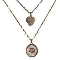 "Texas A&M Aggies 18"" & 26"" Vintage Brass Tone Chain Necklace Features Heart Shape Locket & 1 1/2"" Pendant Judson http://www.amazon.com/dp/B00K2MSNWI/ref=cm_sw_r_pi_dp_zfN4tb17H1C3V"