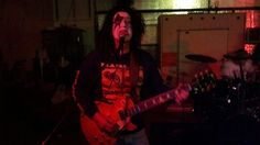 Randy Faul, guitarist for 3rd Violation, halloween party 10/2012