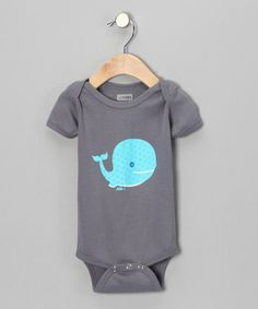 Take a look at this Asphalt Whale Anchor Organic Short-Sleeve Bodysuit - Infant by All Good Living Kids on #zulily today!