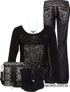 A fashion look from January 2013 featuring Rock Revival jeans, Report boots and Coach shoulder bags. Browse and shop related looks. Fall Outfits, Casual Outfits, Cute Outfits, Fashion Outfits, Womens Fashion, Fashion Trends, Summer Outfits, Woman Outfits, Fashion Weeks
