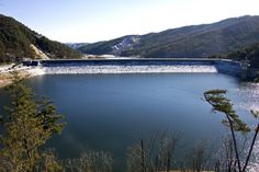 Cheonjangho Lake in Cheongyang-gun, South Korea. It is an agricultural reservoir.