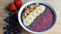Berry Smoothie Bowl Recipe | Breakfast Recipes | The Sweetest Journey