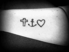 My tattoo.. Faith.Hope.Love