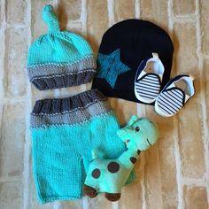 Baby Boys Gift Pack, Gift Hamper for Baby, Baby Shower Gift - Aqua & Blue Combo