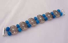 Jade Bracelet with Vintage Silvertone Connectors by evecollection, £16.00