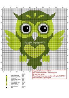 Cross stitch *<3*owls-hiboux-cross stitch-point de croix-embroidery