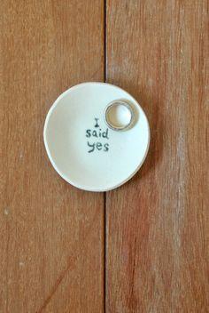 I SAID YES Ring Dish Porcelain Ring Dish Wedding Ring Dish