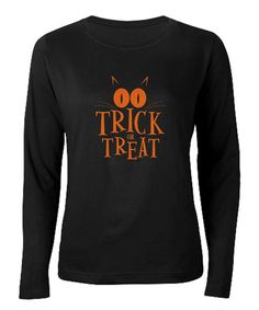 Black 'Trick or Treat' Crewneck Tee