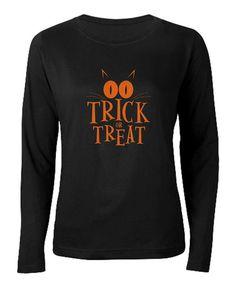 Black 'Trick or Treat' Crewneck Tee