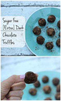 dark chocolate sugar free truffles