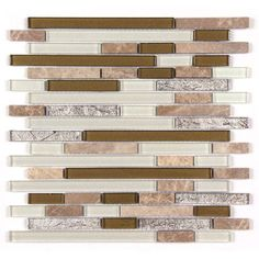 All Marble Mosaic Glass and Stone blend Random Strip 12 x 12 Mosaic Tile Mag-4421-ST from http://AllMarbleTiles.com