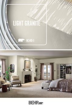 Looking for the perfect creamy neutral for your next DIY home makeover project? Turn to BEHR® Paint Interior Paint Colors, Paint Colors For Home, Interior Design, Sand Color Paint, Behr Paint Colors, Interior Doors, Room Colors, House Colors, Light Granite