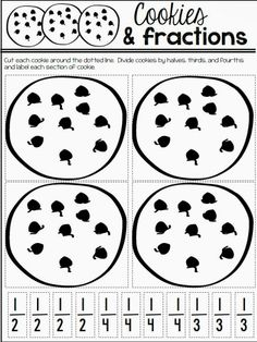 freebie cookies and fractions activity