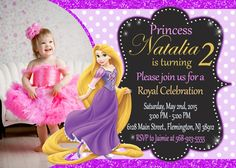 Rapunzel Tangled Invitation Birthday Party by ForLittleKids