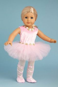 Prima Ballerina - 3 piece ballerina outfit includes pink leotard with tutu, white tights and ballet shoes - 18 Inch Doll Clothes by DreamWorld Collections. $23.97. 18 inch doll clothes fits American Girl dolls.. Outfit contains a wide back closure for easy dressing and clothing removal.. Designed in the USA and sold Exclusively by DreamWorld Collections.. DOLL NOT INCLUDED. Prima Ballerina enters ballet world in this beautiful pink leotard decorated with a white an...