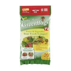 $9.16 Debbie Meyer GreenBags Freshness-Preserving Food/Flower Storage Bags (Various Sizes, - http://freebiefresh.com/debbie-meyer-greenbags-freshness-preserving-foodflower-storage-review/