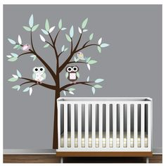 Vinyl Wall Decal with Owl BirdsNursery Tree Wall by Modernwalls, $99.00