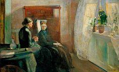 Bahar / Bahar Edvard Munch. 1889 Tuval üzerine yağlıboya. 169 x 263.5 cm. National Gallery, Oslo.