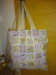 ..DADA / Levanduľka véliká 2v1 Reusable Tote Bags