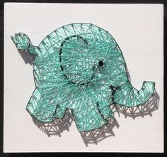 Custom made elephant string art piece by MumAndMeBoutique on Etsy