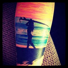 Tia Blanco Surf Tattoo ocean sea beach tattoo