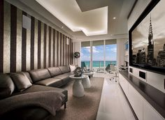 Contemporary Private Residence Palm Beach County - contemporary - Family Room - Miami - Interiors by Steven G
