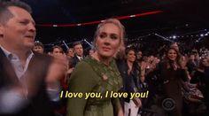 Adele Talking to Beyonce at the 2017 Grammys | POPSUGAR Celebrity Australia
