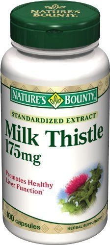Nature's Bounty Milk Thistle 175mg, 100 Capsules by Nature's Bounty. Save 14 Off!. $10.84. Amazon.com Product Description      Milk Thistle 175 mg100 CapsulesMilk Thistle 175 mgThe exceptional benefits of milk thistle are due to powerful antioxidant properties, which help to promote overall health and well-being.*Preservative-free gelatin capsules contain pure milled herb powder.Nature's Bounty Milk Thistle Natural Capsules feature milk thistle, which supports liver health by helping to...