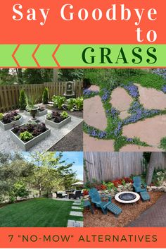 If you can't grow grass or it's just too much maintenance, then we have some alternative landscaping ideas for you. Get a grass-free lawn, but still have the space you want to relax and play. These no-mow yards will change your ideas about landscaping!
