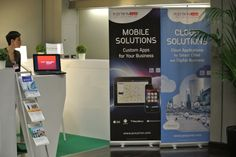 Il nostro stand tra Mobile e Cloud Solution poco prima dell'inizio del Mobile Summit 2014