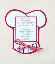 Items similar to The Cooking Party - Custom Invitations from Mary Had a Little Party on Etsy Master Chef, Surprise Party Invitations, 50th Birthday Invitations, Custom Invitations, Cheap Invitations, Baking Birthday Parties, Baking Party, Kids Cooking Party, Grandparents Day