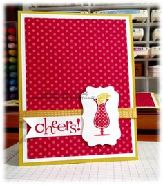 Raspberry cheers by Minders - Cards and Paper Crafts at Splitcoaststampers