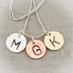 Etsy listing at https://www.etsy.com/listing/123678253/hand-stamped-initial-necklace-sterling