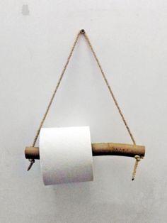 Un Porte Rouleau De Papier Toilette En Bois Et Corde Déco Diy