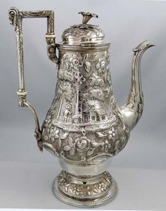 Bailey and Kitchen coin silver coffee pot