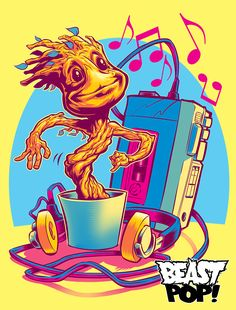 GROOVIN' THROUGH THE GALAXY colors by pop-monkey on DeviantArt