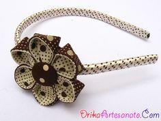 Flor de tecido e tiara decorada passo a passo | Drika Artesanato - Dicas e sugestões sobre artesanato.