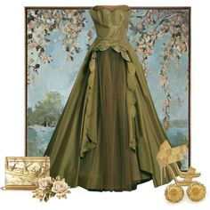 Olive green by whiteflower7 on Polyvore featuring Jimmy Choo and Uttermost