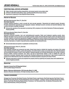 Real Estate Broker Resume Real Estate Resume Is Commonly Used For  Professional Who Have Experience And
