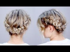 Hairstyle Of The Day: SUPER CUTE Braid Hairstyle Updo | Milabu - YouTube