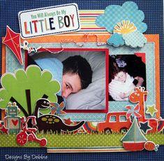 scrapbooking layouts for boys Scrapbook Page Layouts, Scrapbook Albums, Scrapbook Cards, Scrapbook Photos, Scrapbook Designs, Baby Boy Scrapbook, Birthday Scrapbook, Digital Scrapbooking, Scrapbooking Ideas