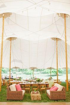 Tent Reception With Lounge Seating - Elizabeth Anne Designs: The Wedding Blog